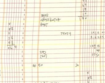 LAST PIECE Half Yard Architextures Ledger in Multi, Carolyn Friedlander, Robert Kaufman Fabrics, 100% Cotton Fabric