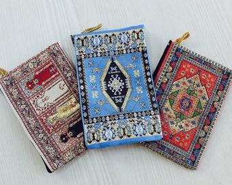 3 women coin pouch, women zipper pouch, women vegan pouch, pouch gift, pouch wallet, change purse, small zipper wallet, handmade pouch