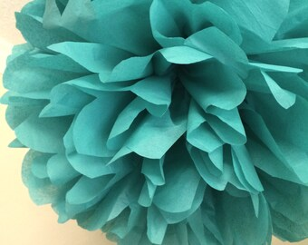 SEA GREEN tissue paper pom / beach wedding ceremony aisle marker arbor arch decorations / aqua baby boy shower first birthday party
