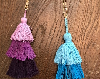 tassel necklace- tassel- necklace- gift for her- birthday gift- birthday- graduation-teacher gift