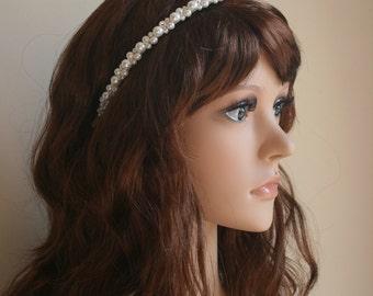 Pearl Headband, Pearl Hairpiece, Pearl Headpiece, Bridal Hair Accessory, Wedding.