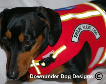 PTSD Red Service Vest  with reflective tape and snap lock custom sizes