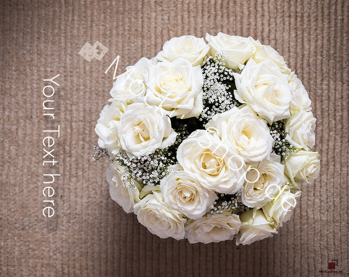 WHITE ROSES BOUQUET  / flower background / flower stock photo / roses stock photo / valentines day / spring stock photo / white roses photo