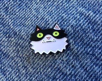 """Cat 1"""" Soft Enamel Lapel Pin"""