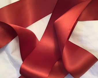 Rust Satin Ribbon/Rust Ribbon/Brown Bridal Sash/Brown Ribbon/Rust Bridal Belt/Dark Rust Ribbon/Rust Wedding Sash/Dark Orange Ribbon