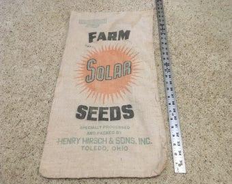 Antique Farm Solar Seeds Sack