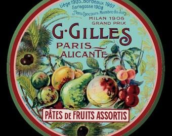 French Fruit Paris Refrigerator Magnet