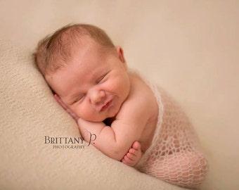 Pure Naturals Newborn Stretch Knit Wrap in Dreamy Cream Beige
