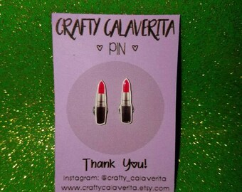 MAC Lipstick Earrings