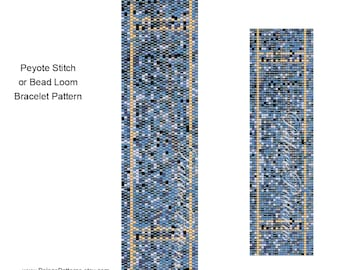 Bead Loom Bracelet Pattern - Dark Denim Jeans