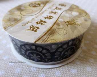Duct tape Masking tape lace flowers black 18mm