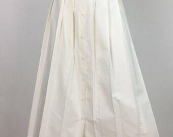 1970s London Fog pleated midi skirt/vintage pleated midi