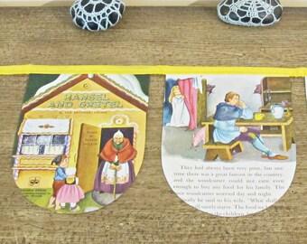 SALE Hansel and Gretel Nursery Bunting - Birthday Party Banner Fairytale Gingerbread - Supplies Garland Yellow Decor Homewares Decoration