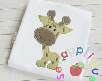 Baby Giraffe applique embroidery design