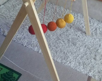 Hanger for montessori mobiles wooden