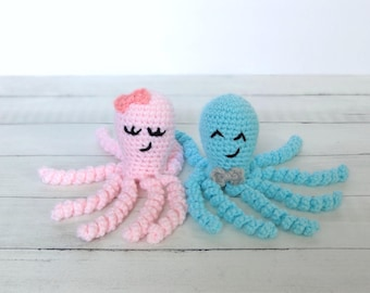 Crochet Octopus, Preemie Octopus, Crochet Animal, Stuffed Octopus, NICU Octopus, Baby Toy, Custom Baby Gift, Octopus Baby Toy, Crochet Toy