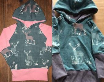 Hoodie scalable deer colors
