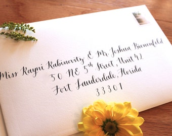 Calligraphy Envelope Addressing - Modern Script Calligraphy