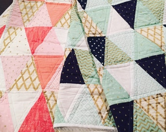 Custom Triangle Crib quilts