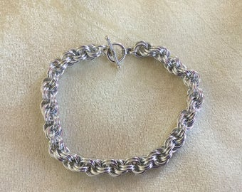 Double Spiral Weave Chainmaille Bracelet