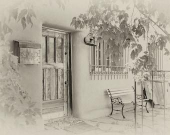 "Southwest Art Prints - Set of 4 - dreamy vintage sepia - 3/ 8x12"" prints and 1/ 5x7"" print - Adobe architecture, church, iron work"