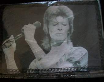 handmade to order David bowie cotton sew on patch