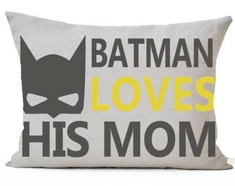 Superhero pillow cover, Superhero cushions, Nap pillow, Boys room pillow, Batman gift pillow, Kids pillows, Nursery pillows, Batman gifts