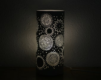Mandala pattern Bedroom accent lamp hand carved led light