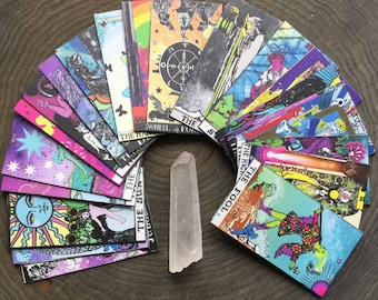 Mini Tarot cards, Magnetic Major Arcana deck, 22 handcut cards, Rider Waite remake by lotusfairy