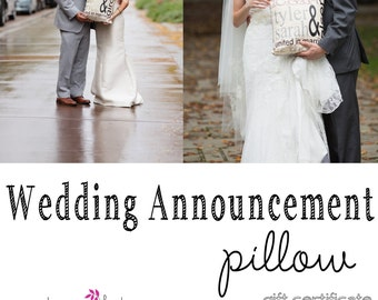Gift Certificate - Personalized Wedding Announcement Pillow