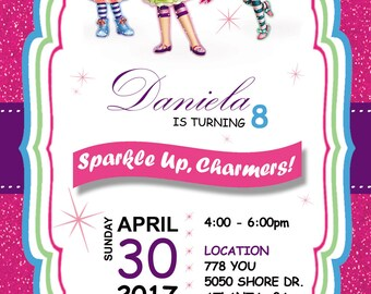 18 little charmers invitation birthday party  invitation  heavy cardstock + free matching color envelopes.