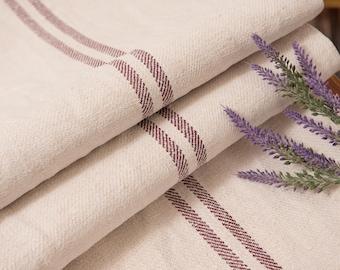 Burgundy red grain sack pillow cases Fabric Antique linen Grain Sack from Europe Brown pillow wedding decoration pillow benchcushion wedding