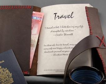 Deluxe Custom Leather Travel Journal