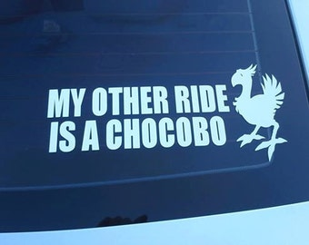 Final Fantasy--- My Other Ride Is A Chocobo FREE SHIPPING