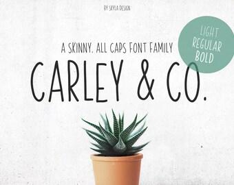 Skinny All Caps font family, Light font, Bold font, Handwritten font, Cute font, Sans serif, font download, digital font,
