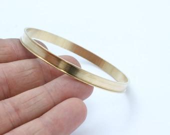 Channel bracelet blank - Raw Brass For polymer clay, collage, inlay. Bracelet blanks - Cuff Channel Bracelet Blank - Bangle blank