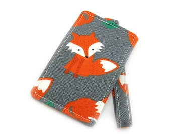 Orange Fox Fabric Travel Luggage Tag - Bag Tag - Travel Accessories - Gift for Traveler - Fun Gift