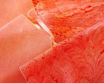 Vintage Japanese Silk Kimono Fabric | Patchwork Lot 104