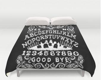 Ouija Board Death Moth Duvet Cover