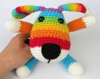 Rainbow Puppy - Amigurumi Crochet Pattern / PDF e-Book / Stuffed Animal Tutorial