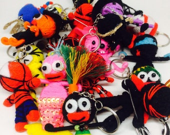 Wholesale Bulk Lot 100 Pcs Voodoo Dolls Keychain Keyring Ornament