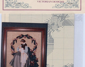 Lavender and Lace cross stitch pattern; Sweet Dreams, Victorian designs, counted cross stitch pattern, needle work, charted pattern, decor