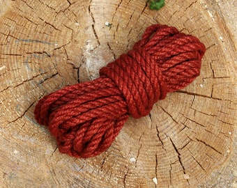 8mm Shibari Rope for Bonadge Play Shibari Kinbaku Jute Rope 26ft / 8m