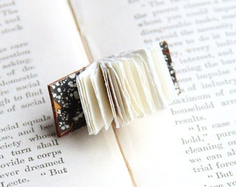 Miniature Book Pin, Book Brooch, Open Book, Tiny Book Pin, Brown Leather, Jacket Pin, Book Lover, Writers, Teachers, Librarians