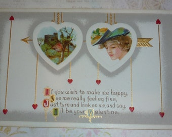 """I""""ll Be your Valentine Antique Postcard"""