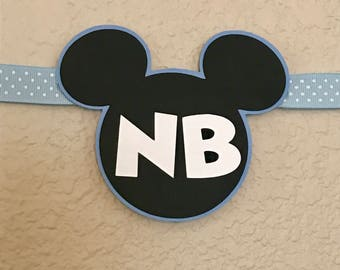 Baby Mickey Mouse Light Baby Blue 12 Month Photo Birthday Banner Party Decoration