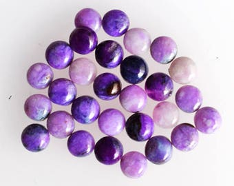 6mm Round Shape, Sugilite Lot Gemstone, Sugilite, Calibrated, Semiprecious Stone, Sugulite, Stone, Purple Cabochon, Wholesale Lot, AG-415