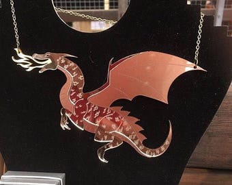 Fire breathing dragon necklace