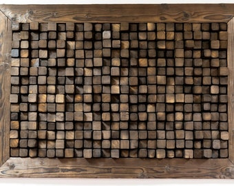 Wood Wall Art, Wood Mosaic, Reclaimed Wood Art, Burned Wood, Shou-Sugi Ban, Abstract Painting, Modern Wood Art Wall Hanging,