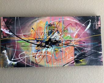 24x48 Expression Abstract gallery canvas painting